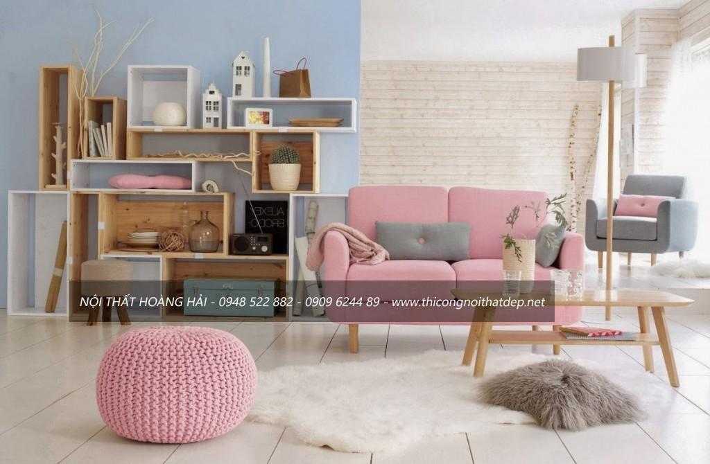 thiết kế, thi công nội thất phòng khách