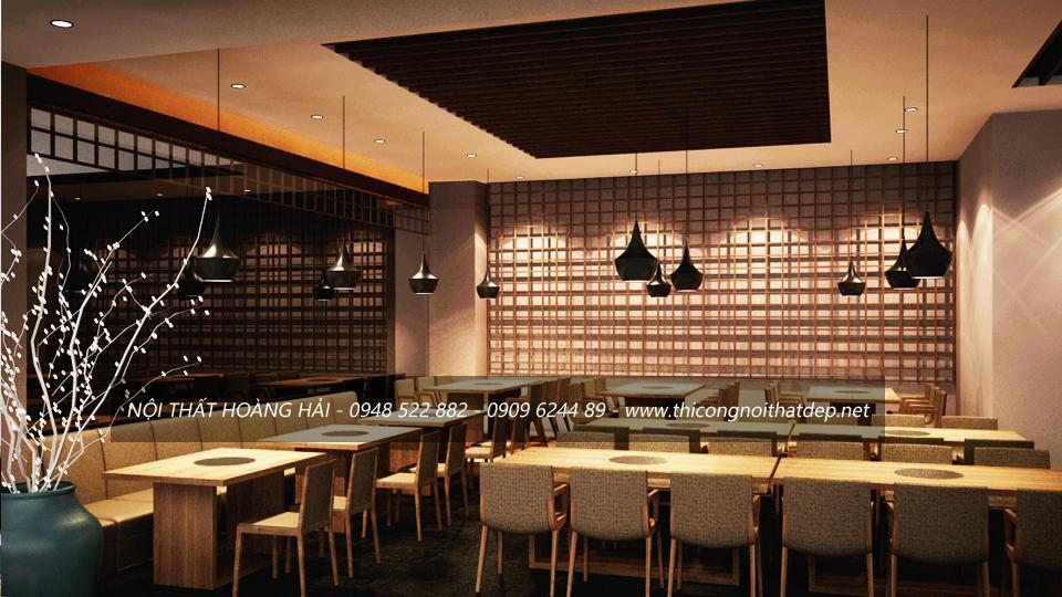 Thiết kế nội thất nhà hàng theo phong cách Nhật