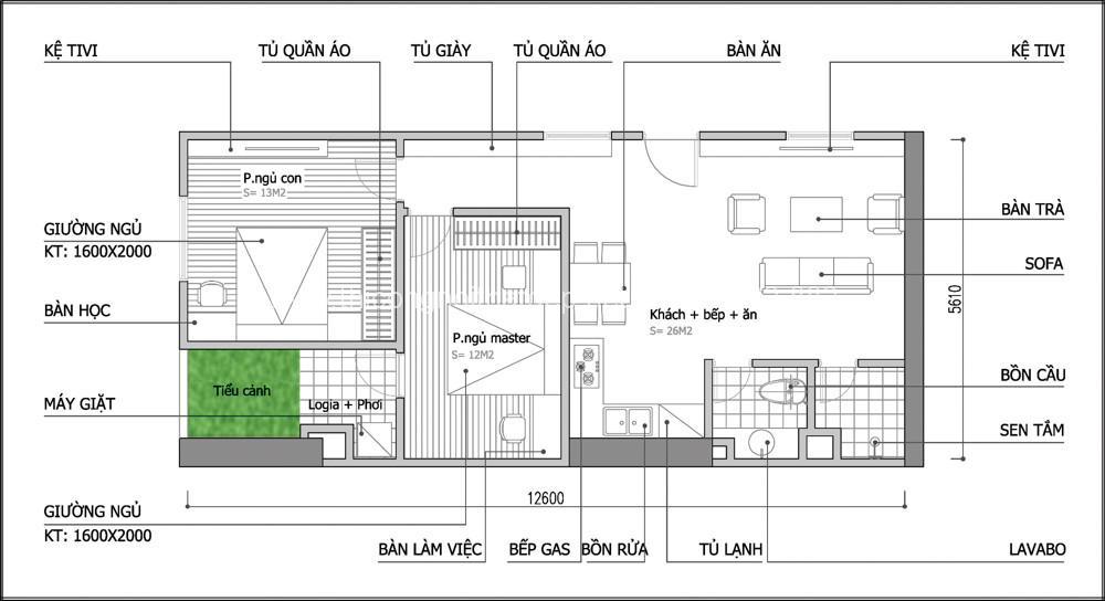 Tư vấn thiết kế nội thất cho chung cư 70m2