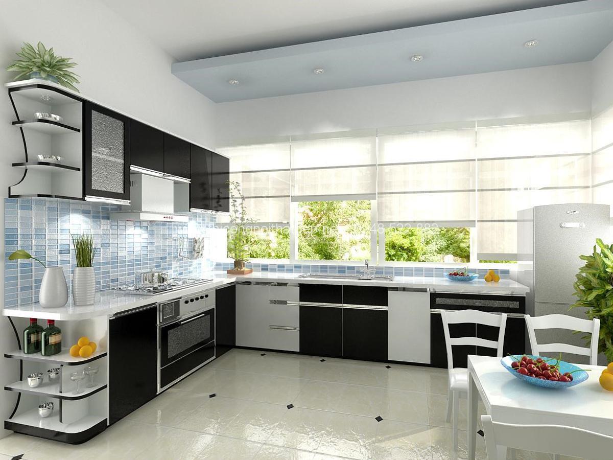 Tủ bếp kệ bếp đẹp giá rẻ quý phái sang trọng
