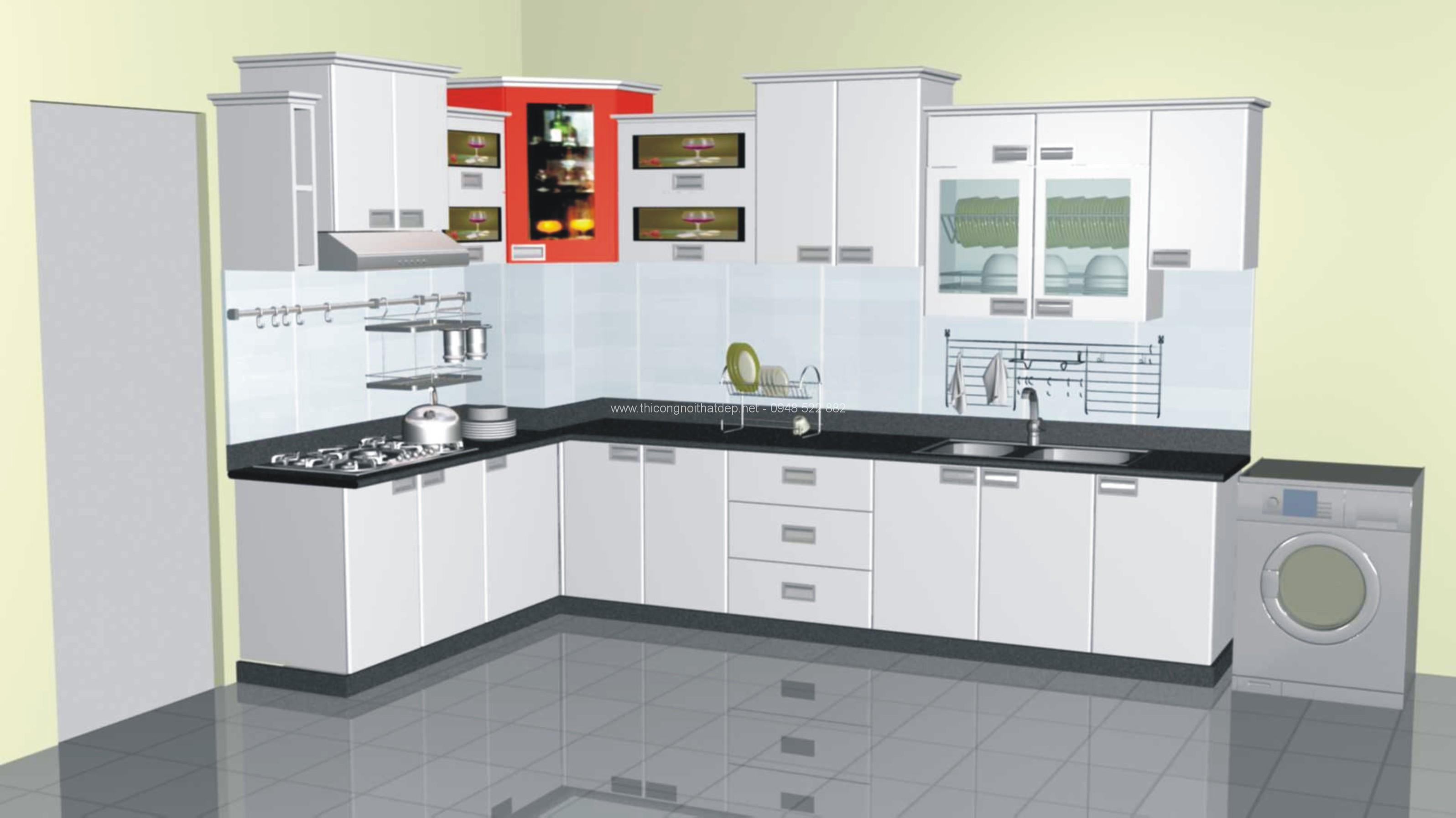 Tủ bếp kệ bếp đẹp giá rẻ sang trọng