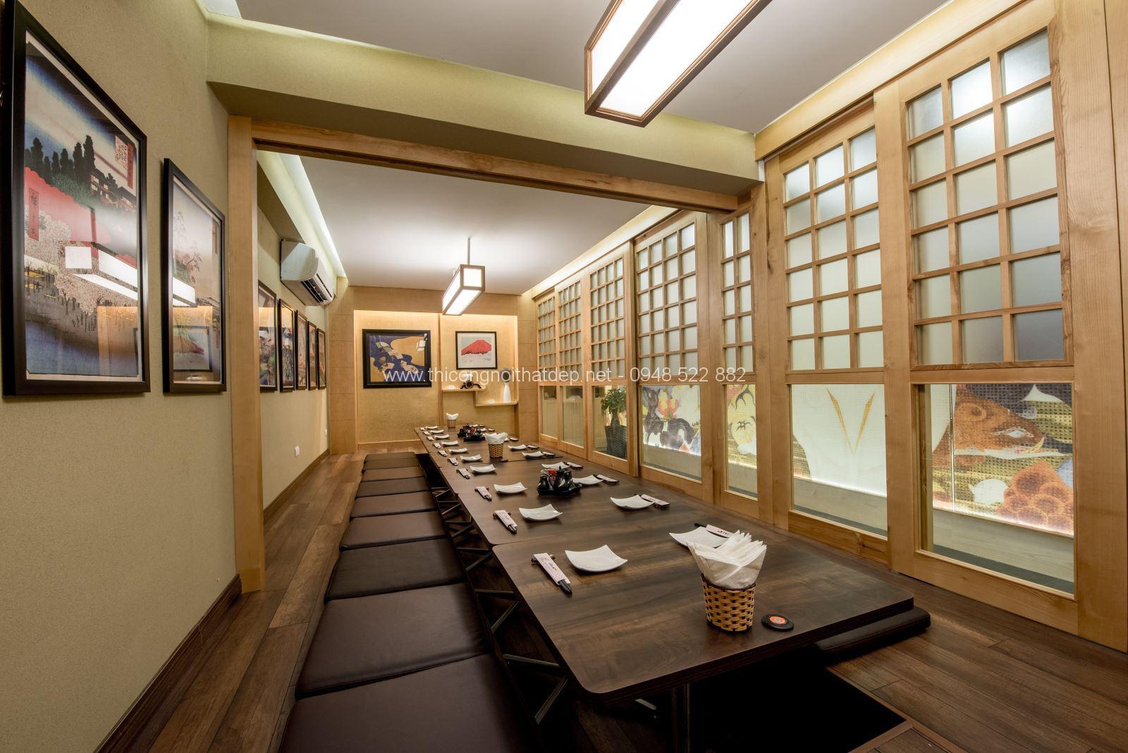 thiết kế nội thất nhà hàng phong cách Nhật