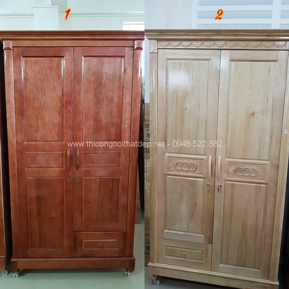 Những mẫu tủ quần áo gỗ sồi đẹp nhất năm nay - 20