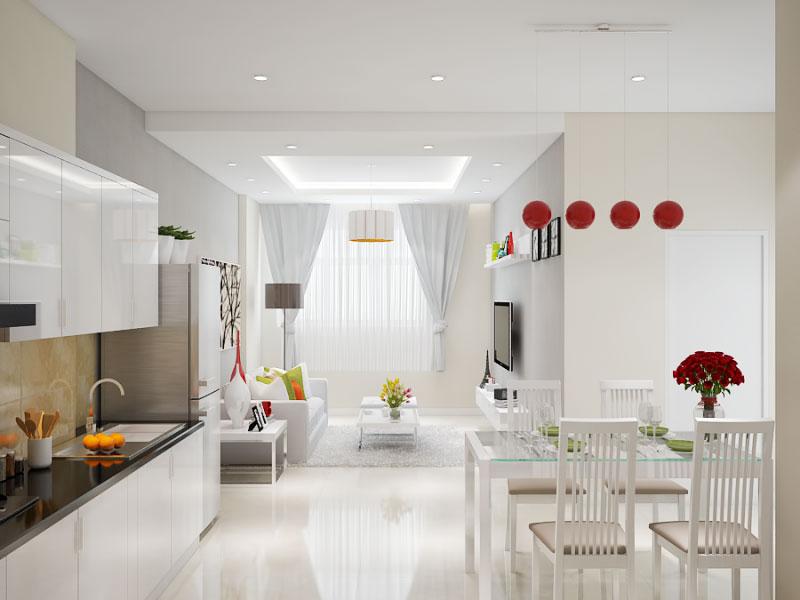 thiết kế nội thất chung cư giá bao nhiêu