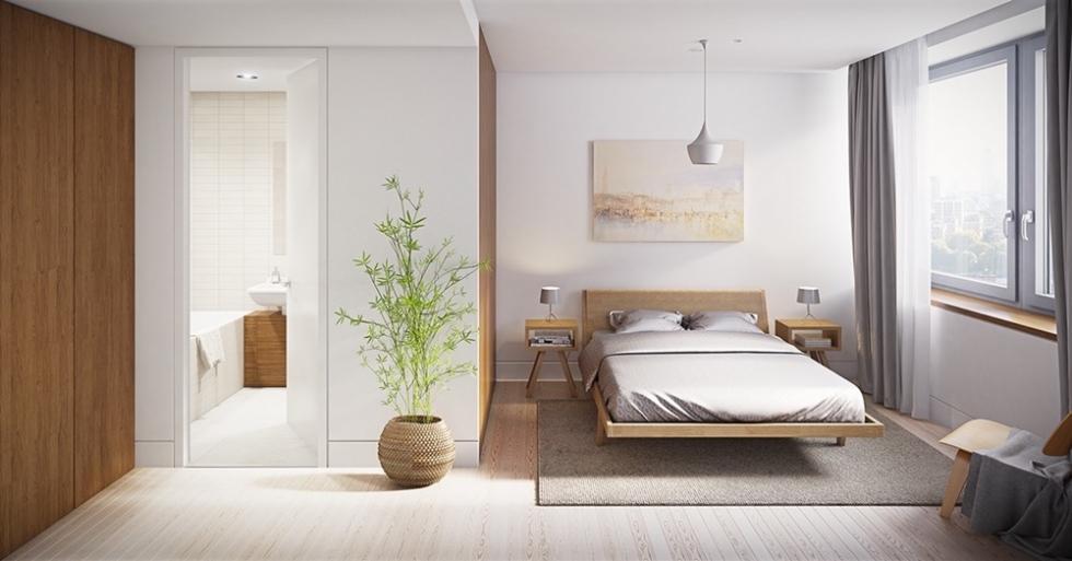 Cách bố trí nhà vệ sinh trong phòng ngủ hợp phong thủy