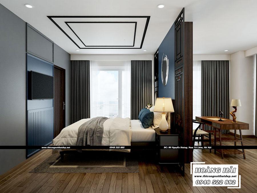 Mẫu thiết kế nội thất phòng ngủ căn hộ chung cư Diamond Island rộng 150m²