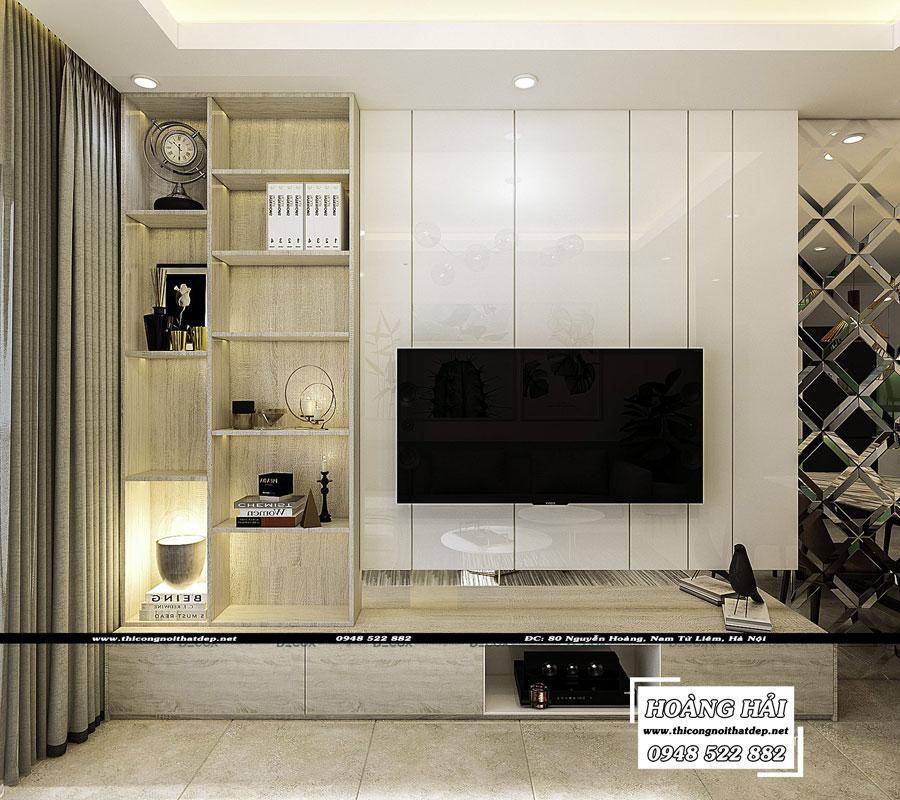 thiết kế nội thất chung cư The Sun Avenue 89.6m2