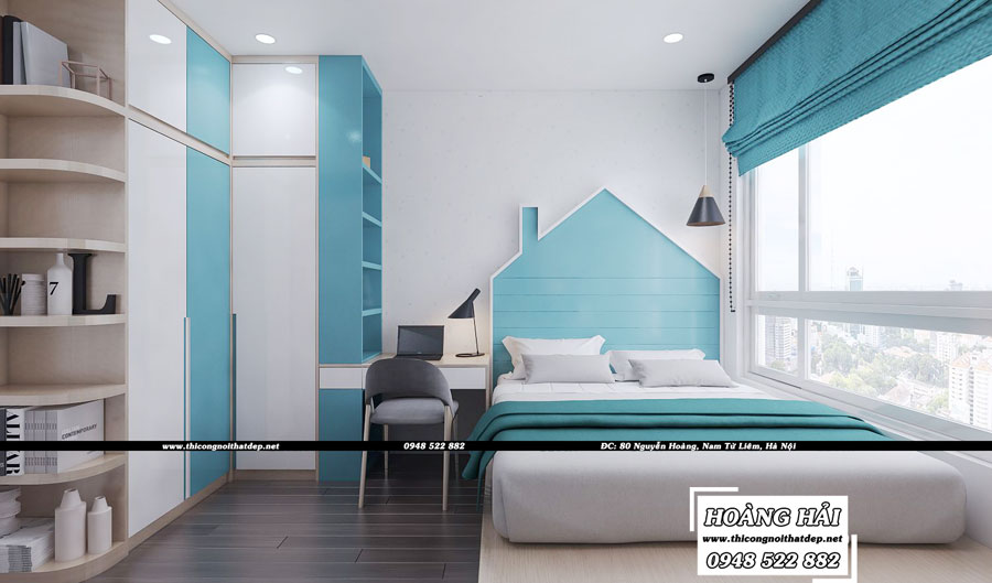 Dự án thiết kế nội thất phòng ngủ em bé chung cư cao cấp Vista Verde 80m2 - Chị Ái