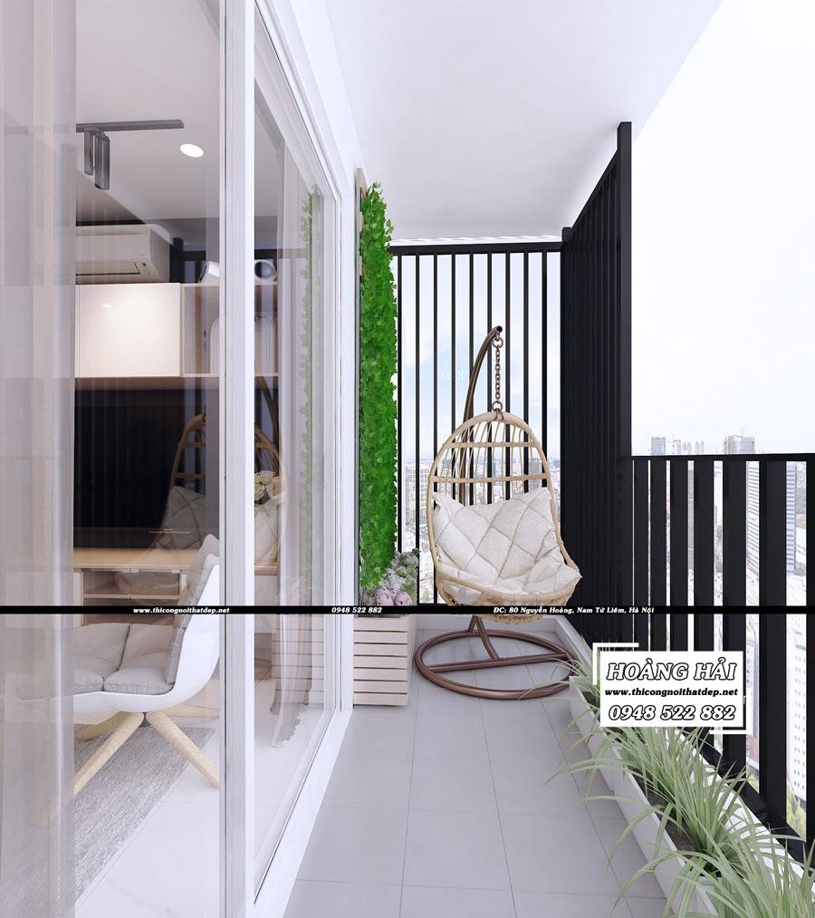 Dự án thiết kế nội thất ban công chung cư cao cấp Vista Verde 80m2 - Chị Ái