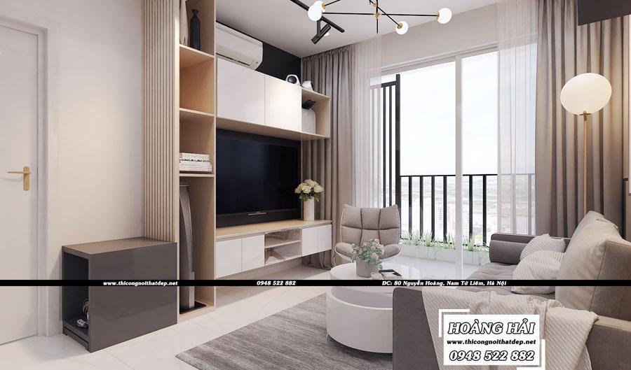 Dự án thiết kế nội thất phòng khách chung cư cao cấp Vista Verde 80m2 - Chị Ái