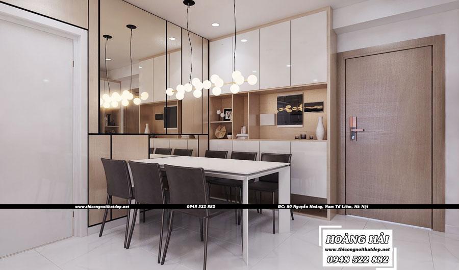 Dự án thiết kế nội thất phòng ăn chung cư cao cấp Vista Verde 80m2 - Chị Ái