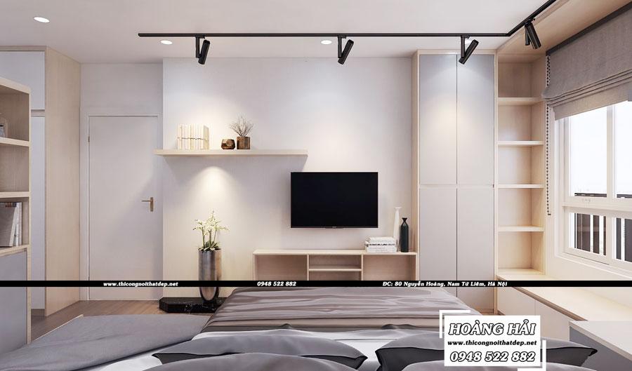 Dự án thiết kế nội thất phòng ngủ chung cư cao cấp Vista Verde 80m2 - Chị Ái