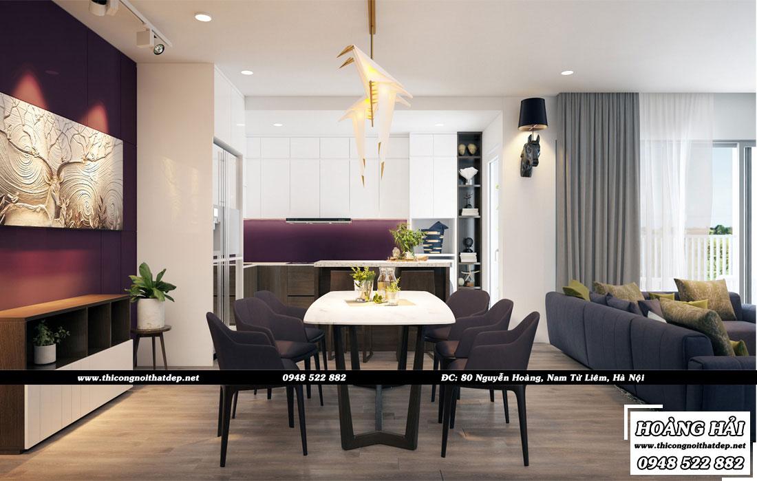 Thiết kế nội thất phòng bếp chung cư Ecolife Capitol