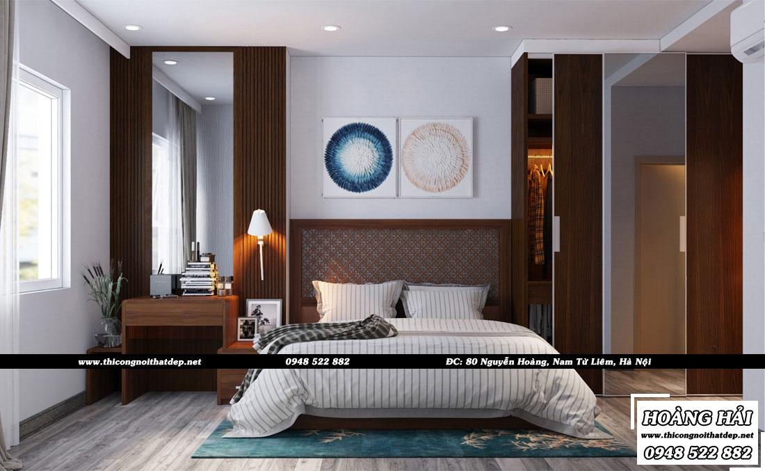 Thiết kế nội thất phòng ngủ chung cư Ecolife Capitol
