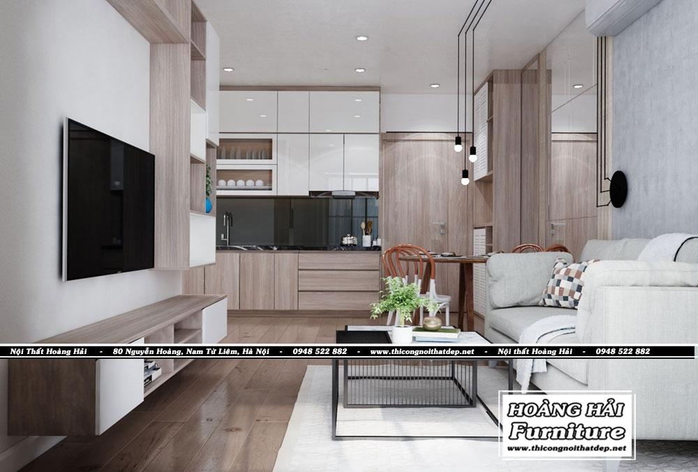 Mẫu thiết kế nội thất phòng khách chung cư Grand Riverside 78m2