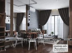 Mẫu thiết kế nội thất căn hộ chung cư Grand Riverside 78m2 cực đẹp