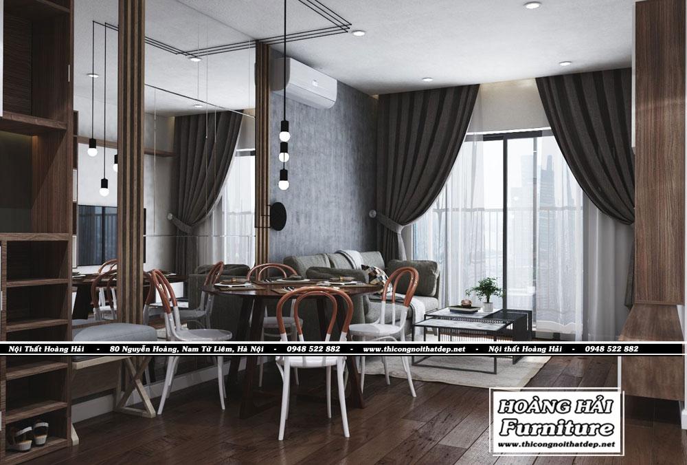 Mẫu thiết kế nội thất phòng ăn chung cư Grand Riverside 78m2