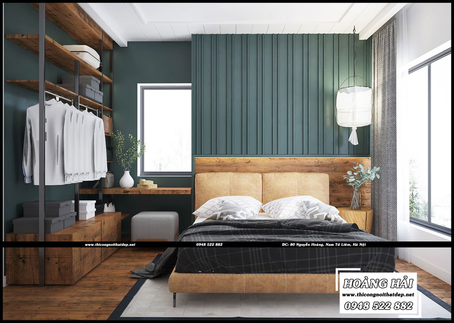 Mẫu thiết kế nội thất phòng ngủ căn hộ chung cưThe Botanica 95.4m2