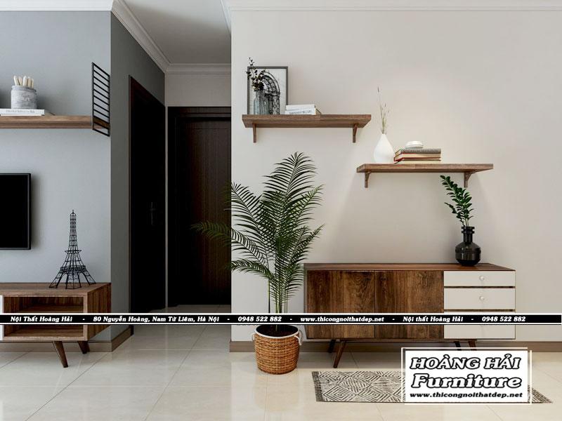 Mẫu thiết kế nội thất phòng khách chung cư 103 m2 Vinhomes Central Park
