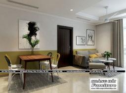 Mẫu thiết kế nội thất chung cư Vinhomes Central Park 103m2 cực đẹp