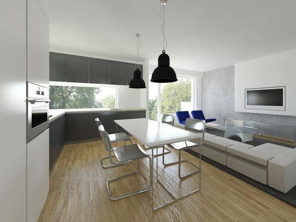 Mẫu thiết kế nội thất phòng bếp chung cư 70m2