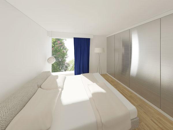 Mẫu thiết kế nội thất phòng ngủ chung cư 70m2