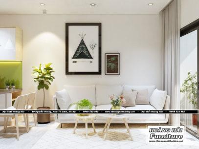Mẫu thiết kế nội thất chung cư m-one 35m2 đẹp