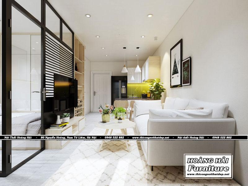 Thiết kế nội thất phòng khách 35m2