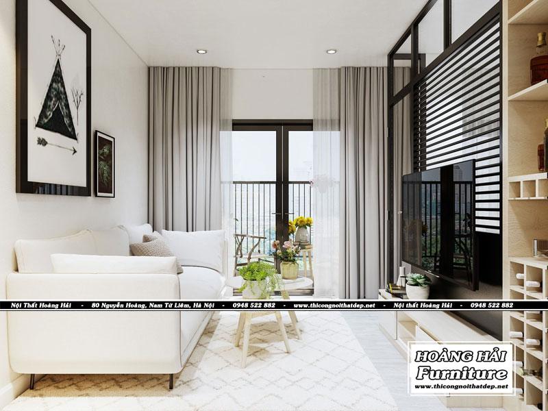 thiết kế nội thất chung cư 35m2