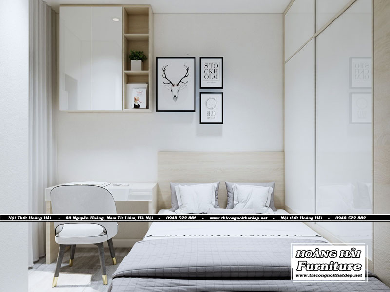 Thiết kế nội thất phòng ngủ chung cư M-One 35m2