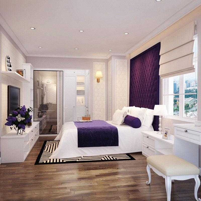 mẫu thiết kế nội thất phòng ngủ chung cư 100m2 tân cổ điển