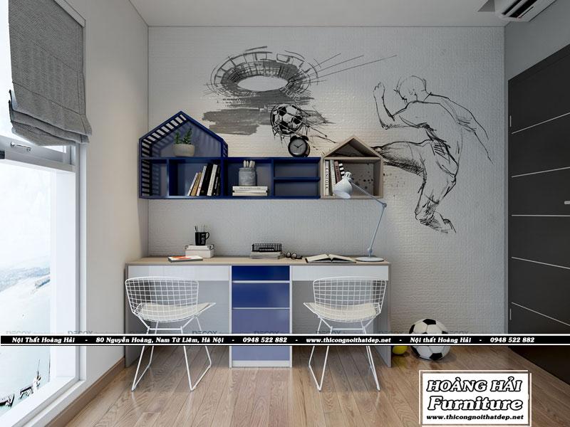 mẫu thiết kế bàn học tại căn hộ XI Grand Court