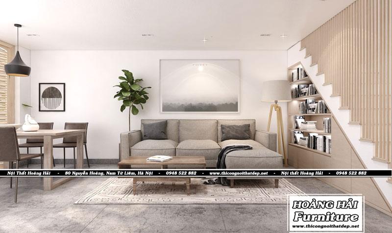 mẫu thiết kế nội thất phòng khách nhà phố