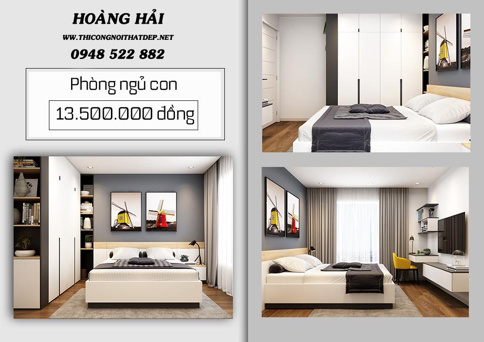 thiết kế nội thất chung cư 70m2 chỉ với 100 triệu