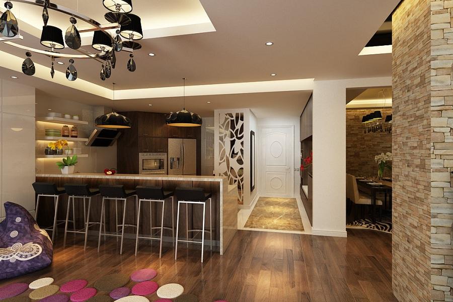 xu hướng thiết kế nội thất phòng ăn và bếp đẹp