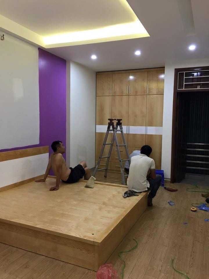 Công trinh thi công nội thất phòng ngủ nhà chị Linh