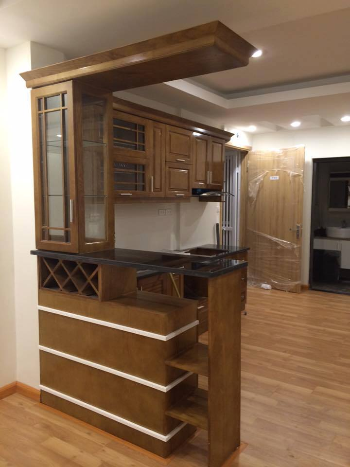 thi công tủ bếp tại nhà anh Hùng