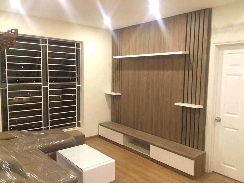 Thi công tủ bếp – kệ tivi tại nhà Anh Hùng