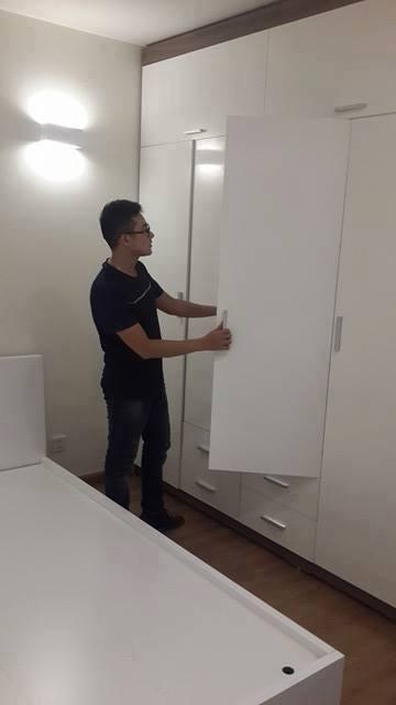 thi công tủ quần áo tại nhà anh Phú