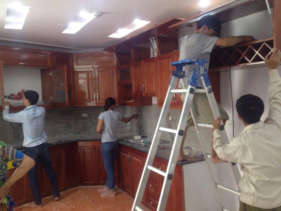 Công trình thi công tủ bếp tại nhà Chị Nữ