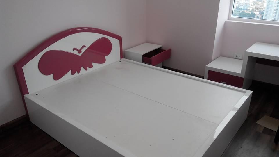 Công trình thi công nội thất phòng ngủ nhà chị Oanh