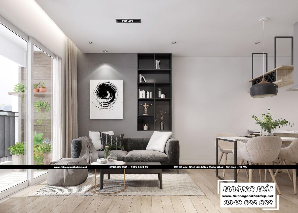 Dự án thiết kế nội thất chung cư Sunrise Riverside 70m2 – Chị Trinh
