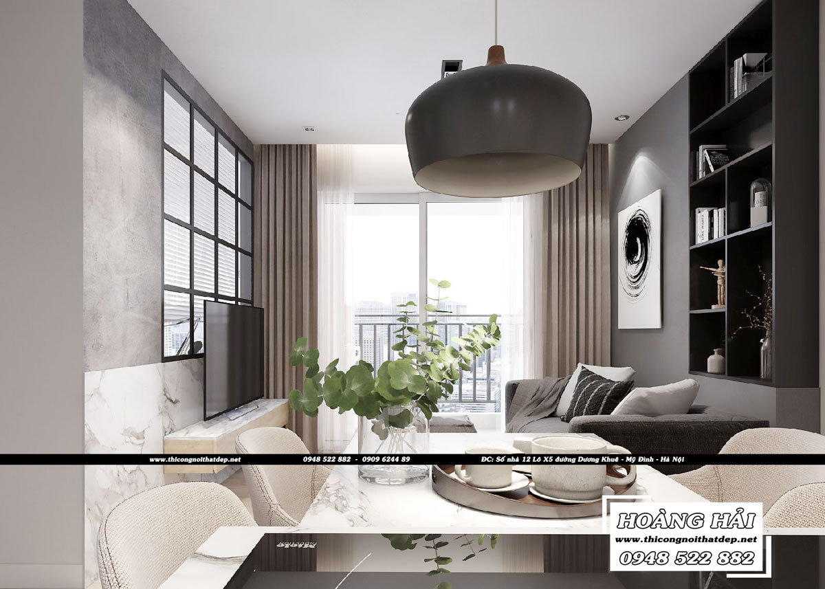 Dự án thiết kế nội thất chung cư Sunrise Riverside 70m2 - Chị Trinh