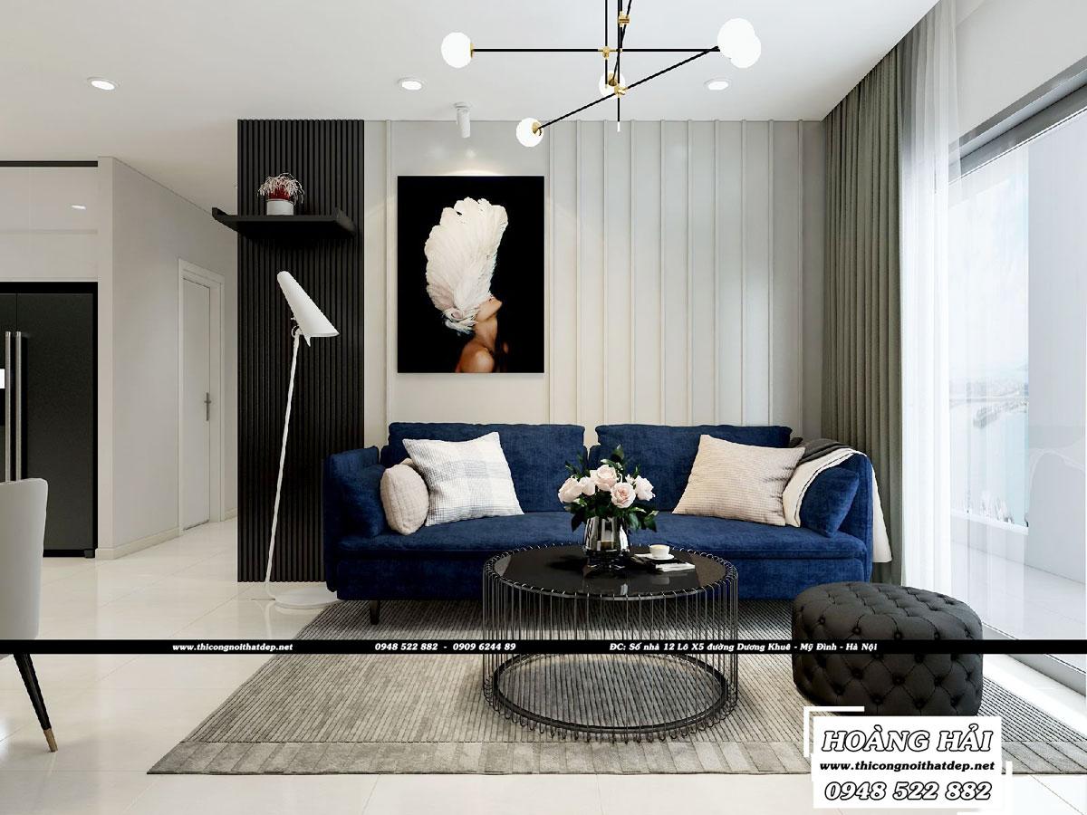 Dự án thiết kế nội thất chung cư Richstar 90m2 – Chị Hà