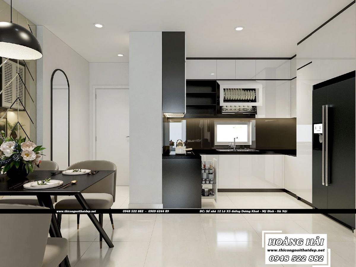 Dự án thiết kế nội thất chung cư Richstar 90m2 - Chị Hà