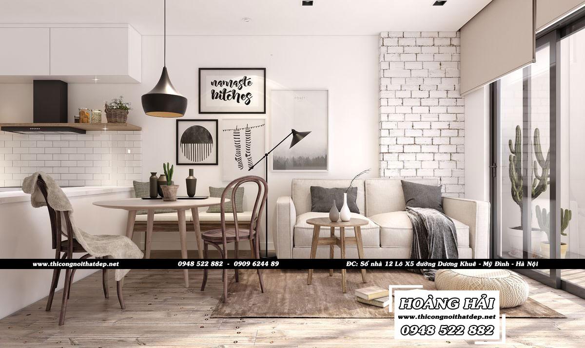Dự ánthiết kế nội thất căn hộ Sunrise Riverside 65m2 – Anh Tính