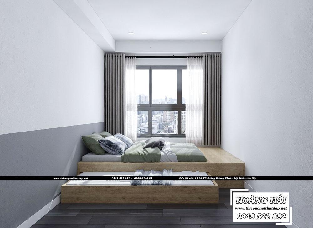 Dự án thiết kế nội thất phòng bếp chung cư Sun Avenue 75m2 - Chị Hằng