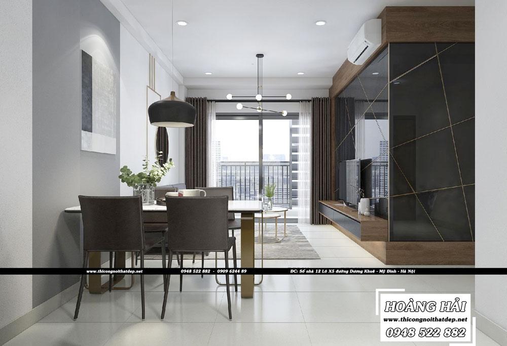 Dự án thiết kế nội thất chung cư Sun Avenue 75m2 - Chị Hằng