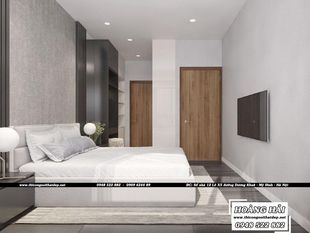 Dự án thiết kế nội thất phòng ngủ chung cư Sun Avenue 75m2 - Chị Hằng