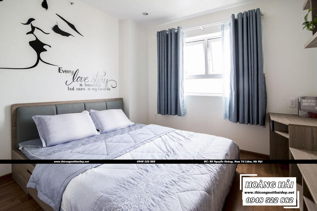 Thiết kế nội thất phòng ngủ chung cư CityLand Park Hills